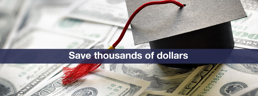 Save money on tuition