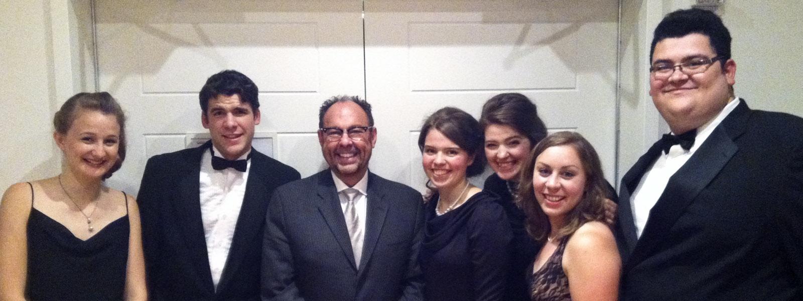 Concert Choir meets with Tim Sharp!