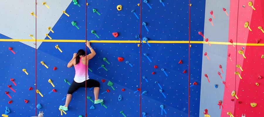 gym fitness center rock climbing wall. Black Bedroom Furniture Sets. Home Design Ideas